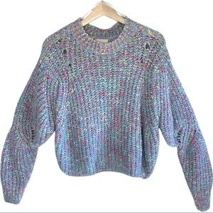 Dreamers Acrylic Blend Soft Open Knit Chunky Crop